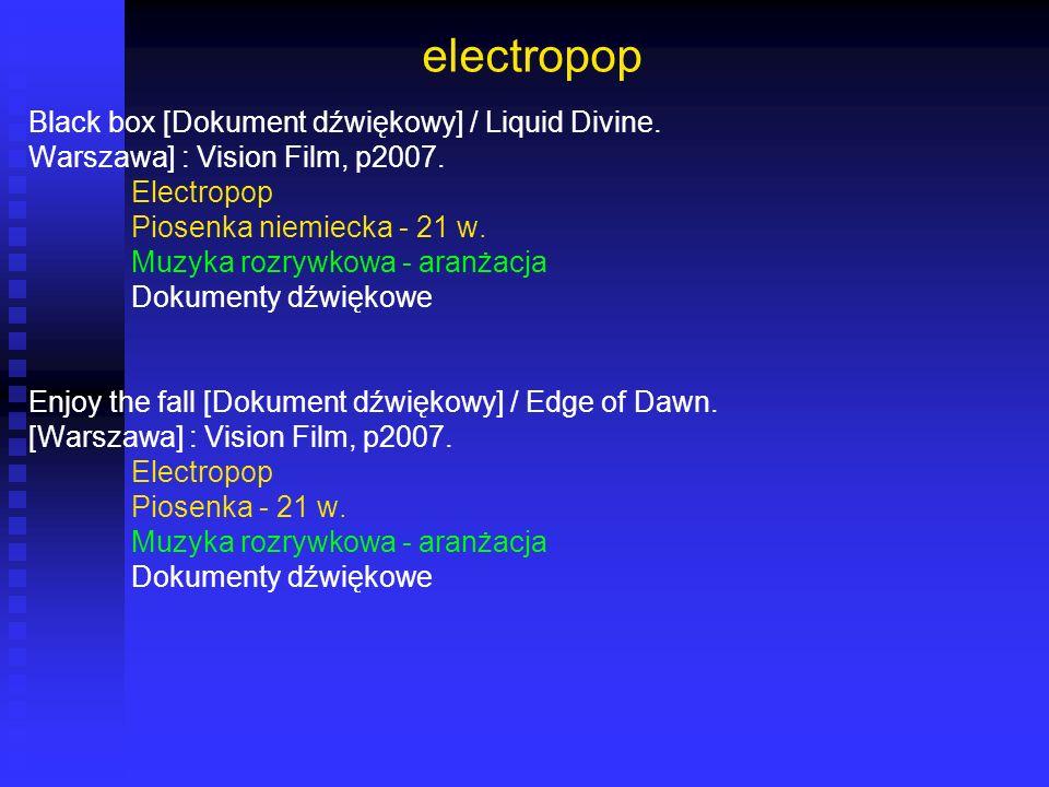 electropop Black box [Dokument dźwiękowy] / Liquid Divine.